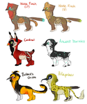 Griffie Adoptables {One left!} by meteorcrash