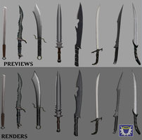 Poly Weapons 1 by BlueSerenity