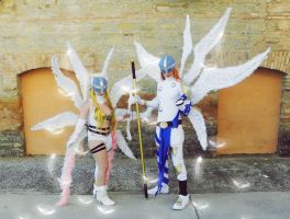 Angewomon and Angemon-Digimon by LeydaCosplay
