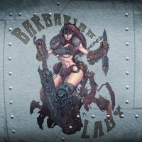 Bomber Nose Art: Barbarian by Conceptopolis