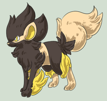 Arcanine x Luxray adopt by Magpieradio