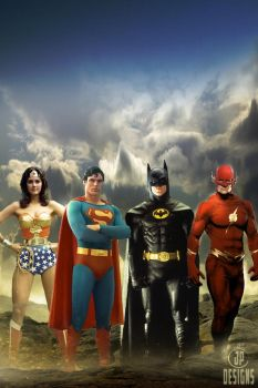 Old School Justice League by onemindedgeek