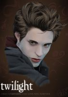 edward cullen portrait I by TabiiToast