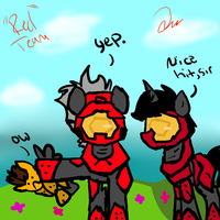 Red Team Ponies by ZoruaAWESOME