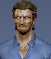 Clint Eastwood Zbrush WIP 2 by FoxHound1984