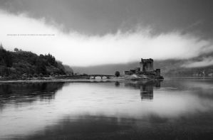 Eilean Donan Castle in BW by Stridsberg