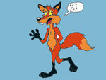 Foxy says Happy Birthday to you! by NevadaCoyotle