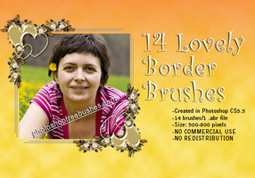 14 Lovely Floral Border Brushes Free to Download by fiftyfivepixels