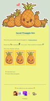 Kawaii Pineapple Journal Skin by Metterschlingel