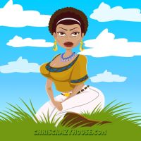 Black Woman Commission by chriscrazyhouse