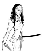 Michonne - Dawn of the Walkers by AviArts