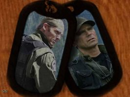 Jack and Daniel dogtags by Sajc63