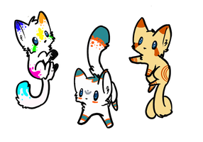 Cat adoptable batch 9 by TotalSilver-Adopts