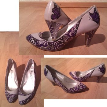 Customized Lilac Shoes by K1MAGA1N