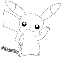 Pikachu doodle Uncoloured by raccooon325