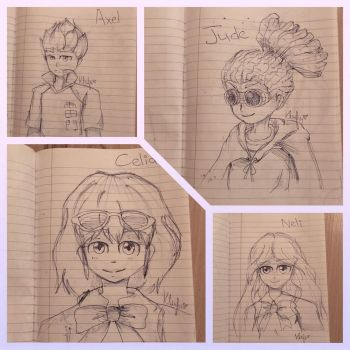 Some sketches from last night by KamiPPG