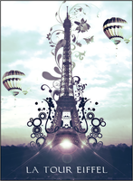 The Eiffel Tower by LilSaintJA