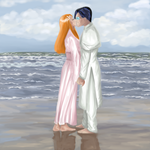 Uryu and Orihime by Nicolaas-G