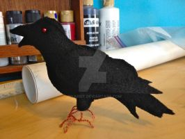 Felt Raven Update by Bwabbit