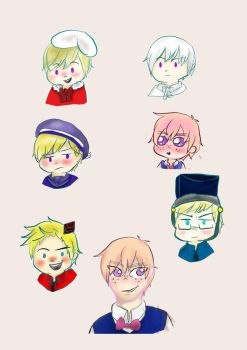Nordics chibos stickers and Oliver! by SakuAngel1