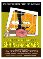 Incredible Shrinking Homer Poster by Gulliver63