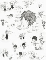 death note doodles by AnimeFace