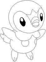 Piplup Lines by Sulfura