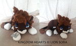 Kingdom Hearts II: LION SORA PLUSH by shillermetimbers