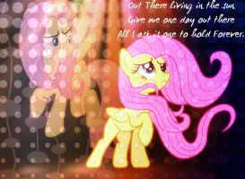 Out There - Fluttershy Wallpaper by Angelicsweetheart