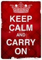Keep Calm And Carry On by typoholics