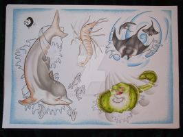 sealife sheet 2 by willowtreetattoos