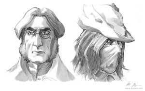 Bloodborne characters by nirnalie