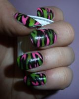 Funky Zebra Nails by GiannaPergamo