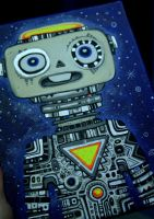 First Robot Painting... by Rathur-net