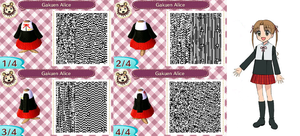 Gakuen Alice Elementary school uniform - ACNL QR by Lebasy