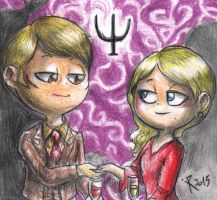 Hannibal chibis - Hannibal and Bedelia by FuriarossaAndMimma