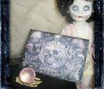 A doll and her ouija board by grimdeva