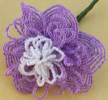 Beaded peony by Craftcove