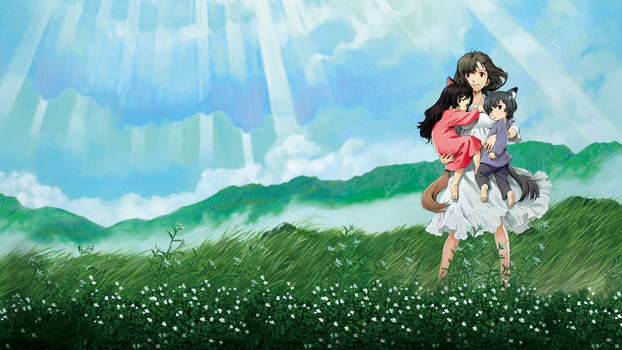 Wolf Children Ame and Yuki by d4ncecAt