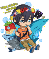 Free! Happy Birthday Haruka! 6/30 by DaphInteresting