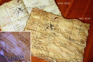 Map from The Hobbit film, with UV Lunar lunes by Hairac