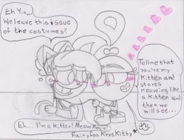 YxT A Kitten for Yin XD by RegularBluejay-girl
