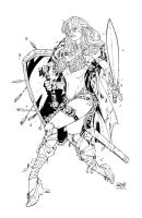 Red Sonja-Inks by devgear