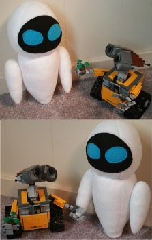 EVE and WALL-E by dragonlady864
