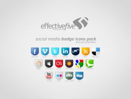 Social Media badge icons set by EffectiveFive