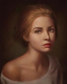 Female Portrait Study 22 Day #113 by AngelGanev