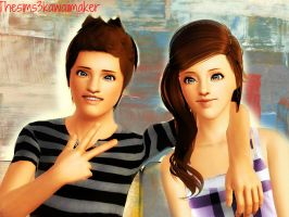 Brother N Sister by TheSims3KawaiiMaker