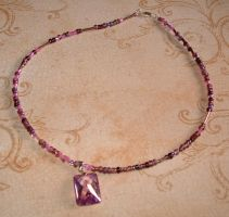 Purple Necklace by MollyD