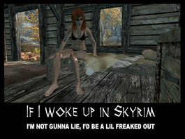 If I woke up in Skyrim 1 by Cinn-Ransome