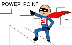 MS Office hero: PowerPoint Man by DaStinka